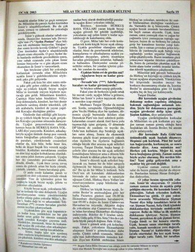2003, Dergi MİLAS SANAYİ VE TİCARET ODASI c