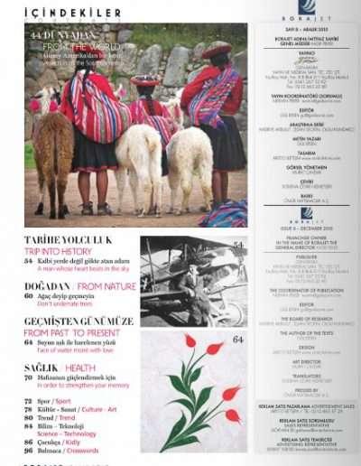 Aralık 2010, Dergi BORAJET b