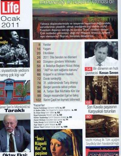 Ocak 2011, Dergi İZMİRLİFE b