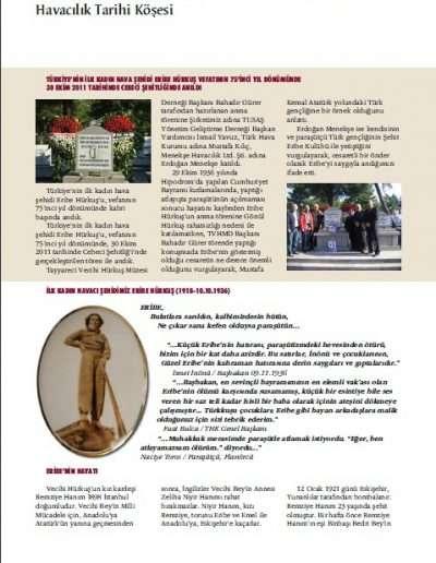 Aralık 2011, Dergi TAİ'NİN SESİ d