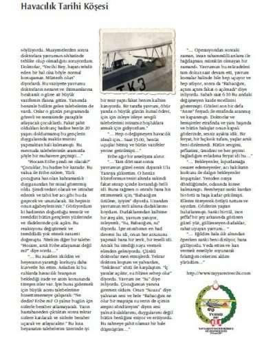 Aralık 2011, Dergi TAİ'NİN SESİ e