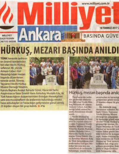 18 Temmuz 2017, Gazete MİLLİYET ANKARA