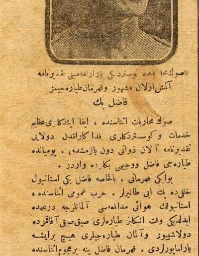 15 Ekim 1921, Gazete
