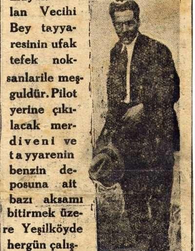 """Ekim 1930, Gazete """"Şerefli Bir Genç"""""""