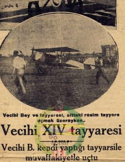 "29 Eylül 1930, Gazete ""Vecihi XIV Tayyaresi"""