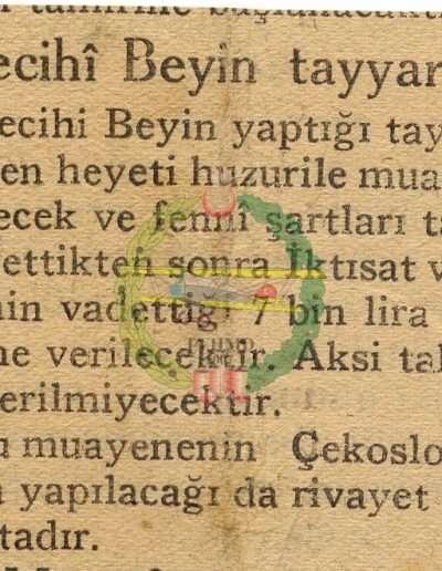 """Ekim 1930, Gazete """"Vecihi Bey'in Tayyaresi"""""""