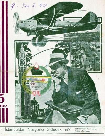 """9 Ekim 1930, Dergi BRAVO """"Vecihi NewYork'a Gidecek mi?"""""""