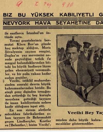"""9 Ekim 1930, Dergi BRAVO """"Bravo Vecihi Sana"""""""