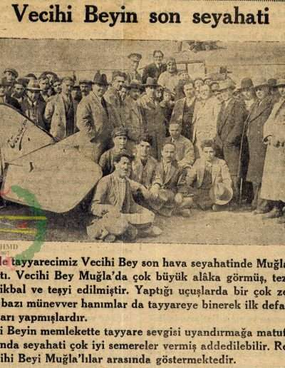 "1931, Gazete ""Vecihi Bey'in Son Seyahati"""