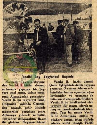"1931, Gazete ""Var Ol Türk San'atkâr Tayyarecisi"""