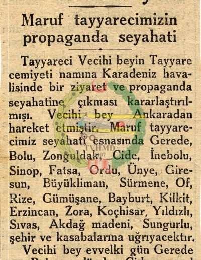 "1931, Gazete ""Vecihi Bey"""