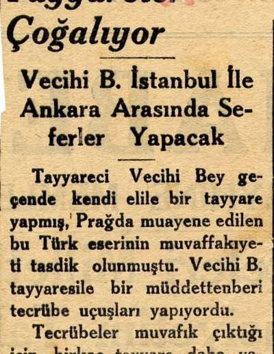"""1931, Gazete """"Yerli Tayyareler Çoğalıyor"""""""