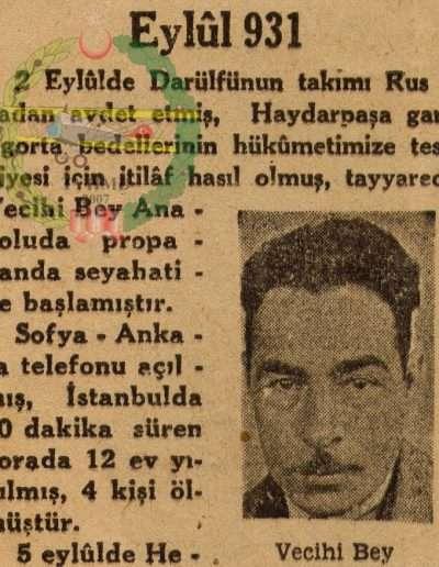 "Eylül 1931, Gazete ""Eylül 931"""
