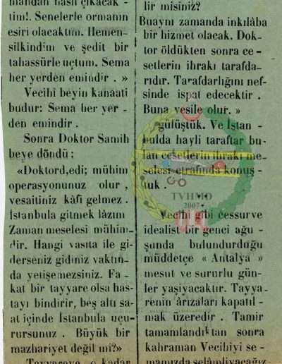 """18 Kasım 1931, Gazete """"Kahraman Tayyarecimiz Hatıralarını Anlatırken"""" b"""
