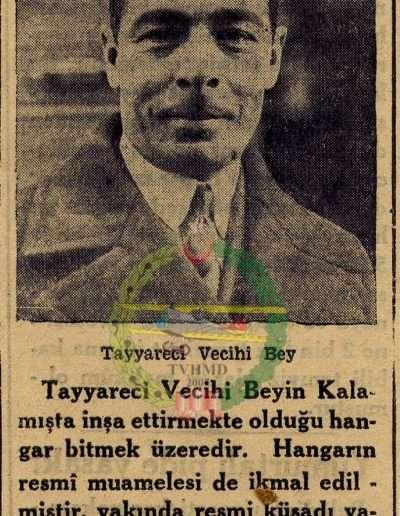 """1932, Gazete """"Bostancı'da Tayyare Fabrikası"""""""