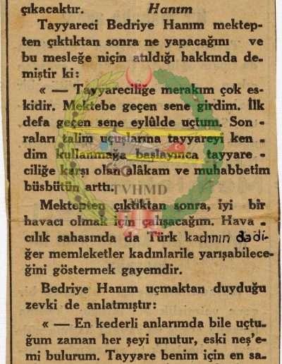 """27 Eylül 1933, Gazete """"Türk Kadını"""""""