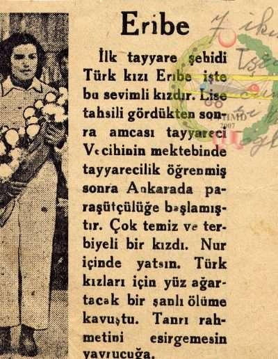 Kasım 1936, Gazete KÖROĞLU Şehit Eribe