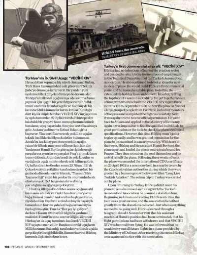 Aralık 2017, Dergi PEGASUS e