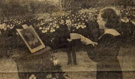 7 Kasım 1936, Eribe Okulunda anılıyor