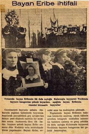 7 Kasım 1936, Eribe Hürkuş'un şehitliği nedeniyle ihtifal