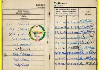 1958, TİC PİLOT LİSANSI