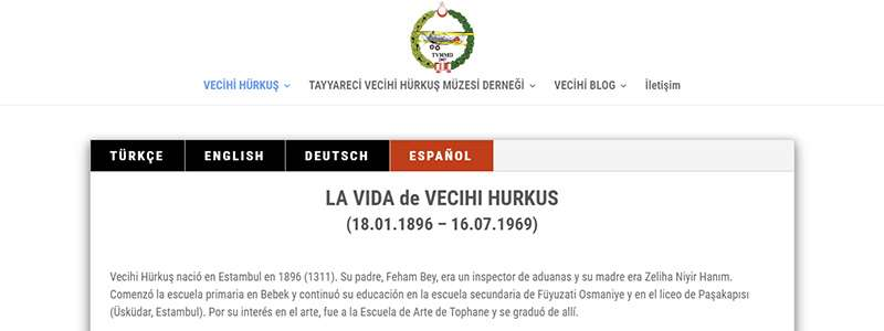 LA VIDA de VECIHI Vecihi Hürkuş'un Hayatı Şimdi de İspanyolca